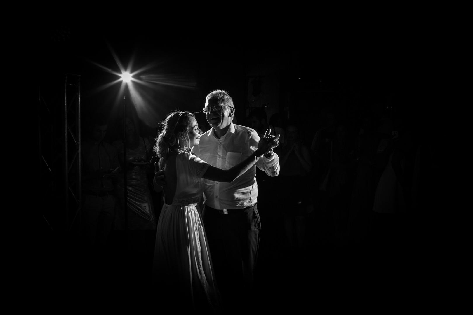 Première danse pour la mariée et son père, Abbaye de Saint Eusèbe