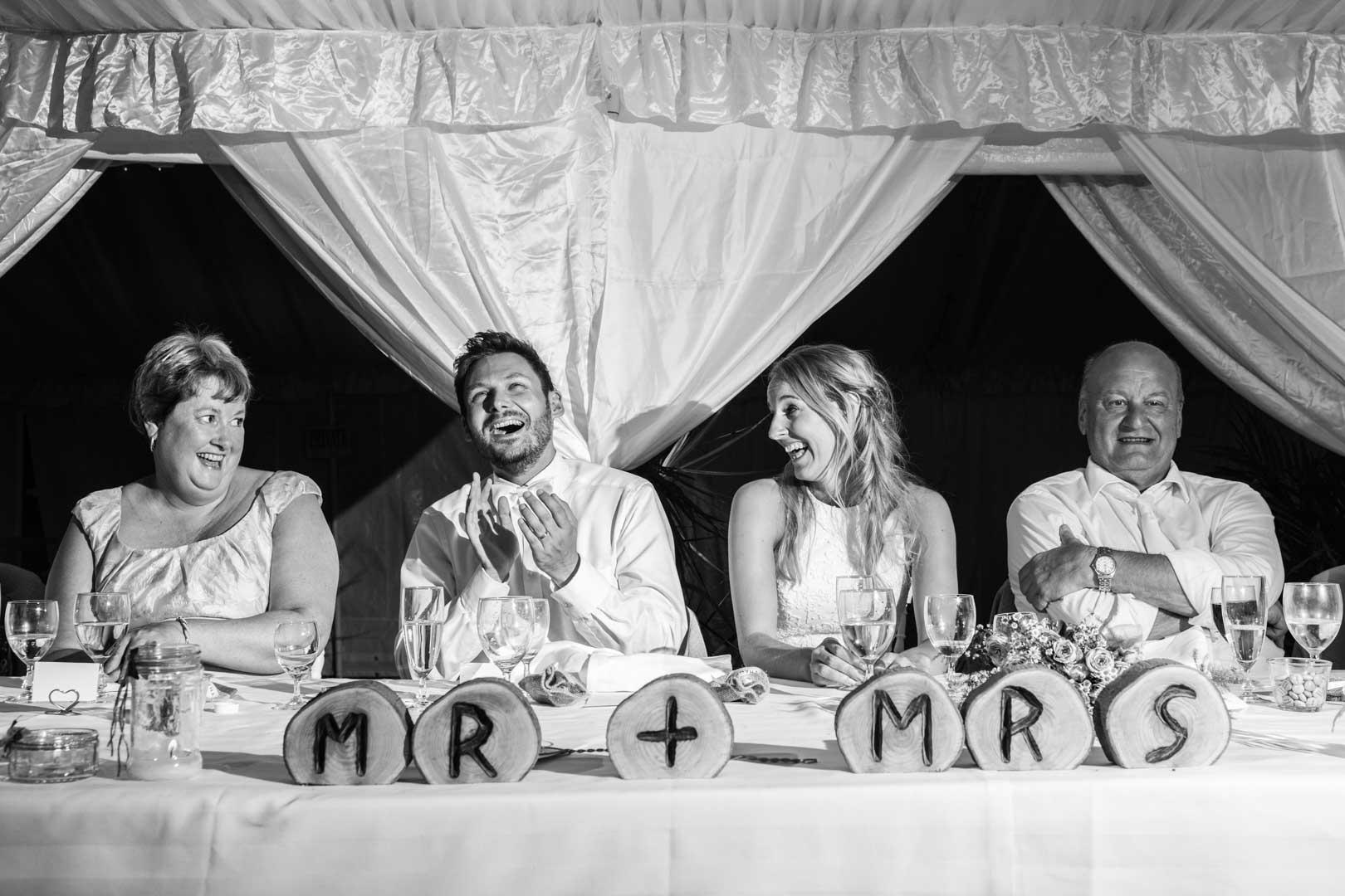 Table d'honneur pour ce mariage au Château de Detilly