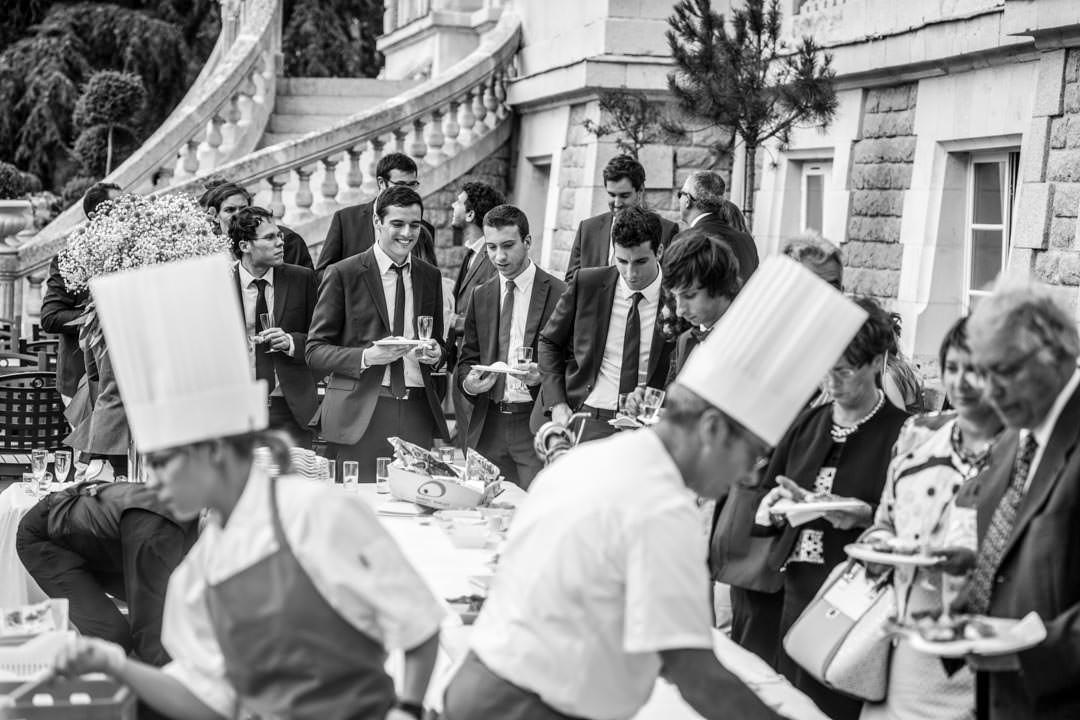 Buffet extérieur, mariage à Angers