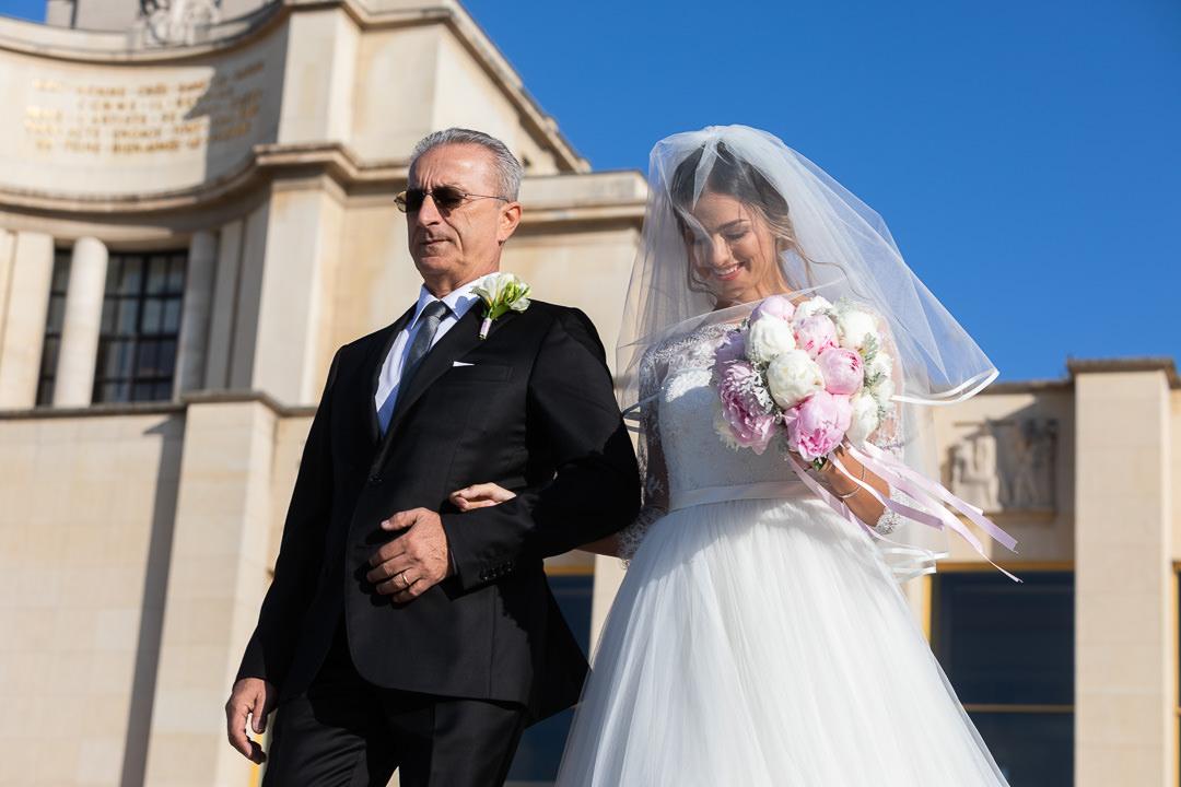 La marié se prépare
