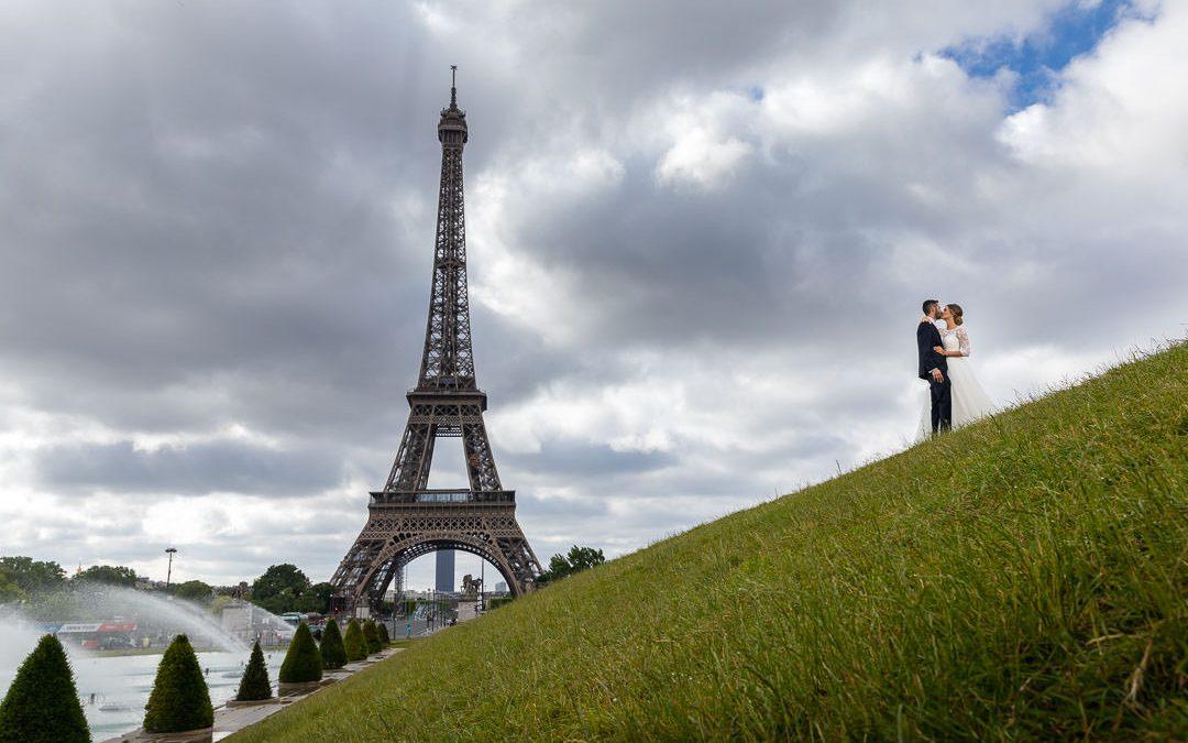 Mariage en face de la Tour Eiffel